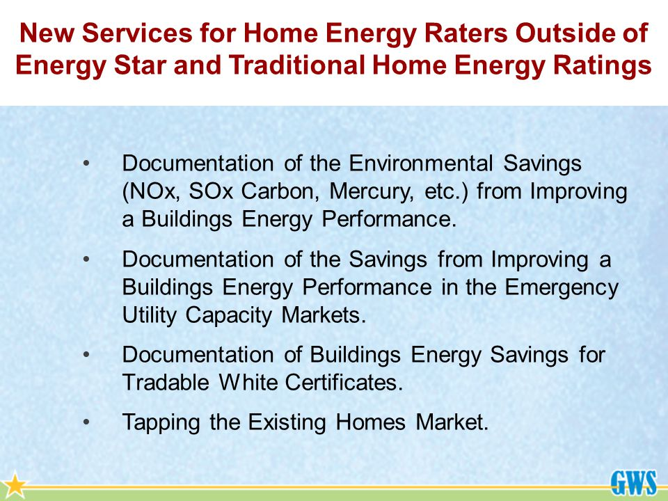 Documentation of the Environmental Savings (NOx, SOx Carbon, Mercury, etc.) from Improving a Buildings Energy Performance.