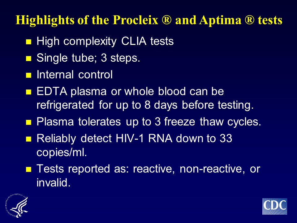 High complexity CLIA tests Single tube; 3 steps.