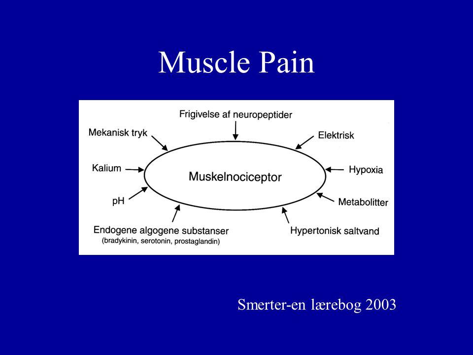 Muscle Pain Smerter-en lærebog 2003