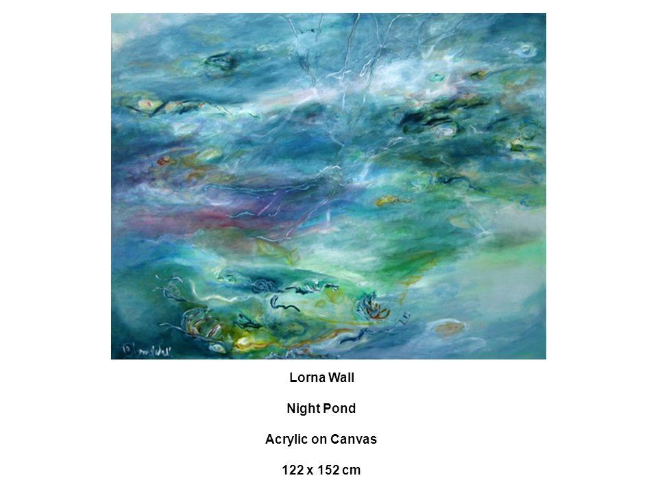 Lorna Wall Night Pond Acrylic on Canvas 122 x 152 cm