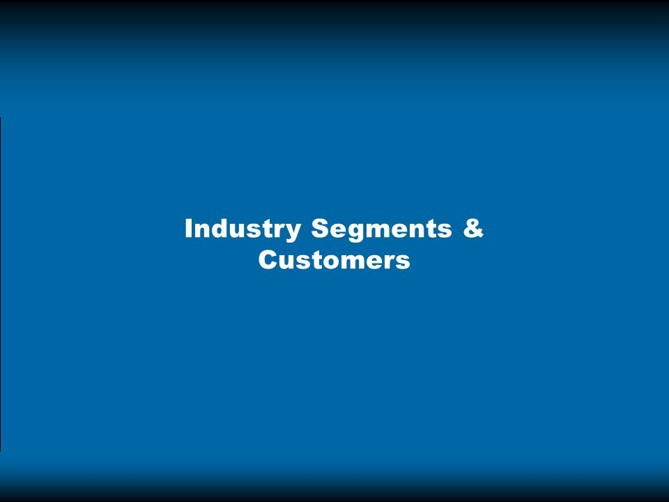 Industry Segments & Customers