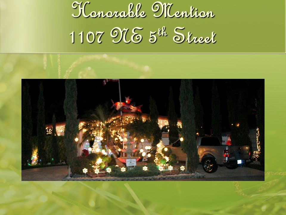 Honorable Mention 1107 NE 5 th Street
