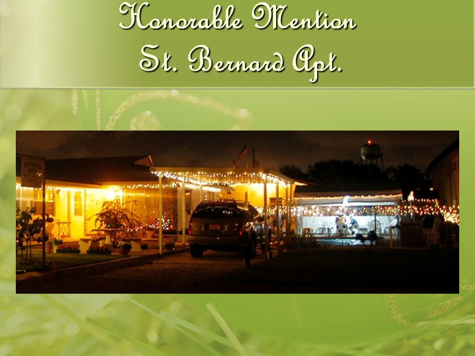 Honorable Mention St. Bernard Apt.