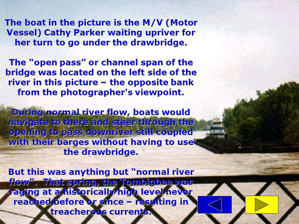 These are indeed real pictures of an incident that took place at Rooster Bridge on Alabama's Tombigbee River, April of 1979, as captured by a Linden (AL) Democrat-Reporter photographer.