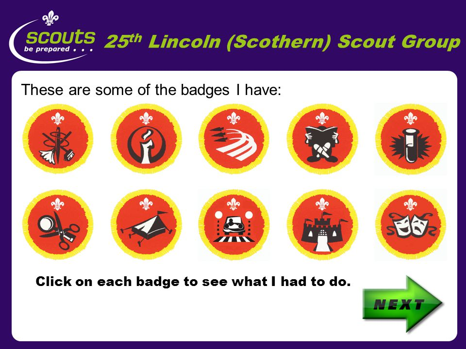 25 th Lincoln (Scothern) Scout Group Scothern Village Hall