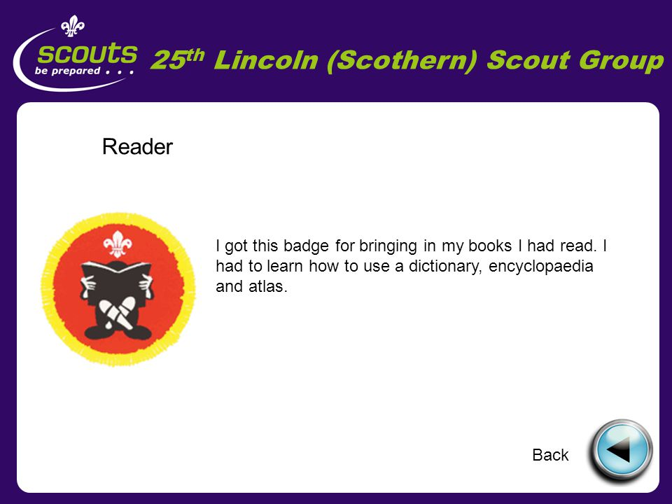 25 th Lincoln (Scothern) Scout Group Air Activities I got this badge for going to see the Red Arrows.