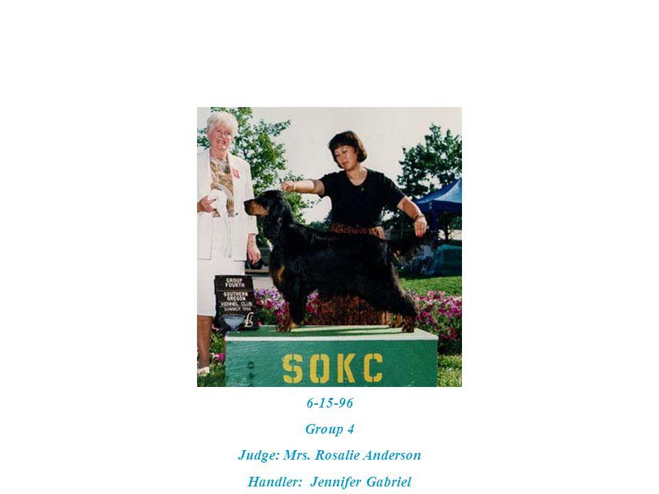 7-16-99 – GSCA Specialty Best Veteran & Best of Breed Judge: J. Donald Jones