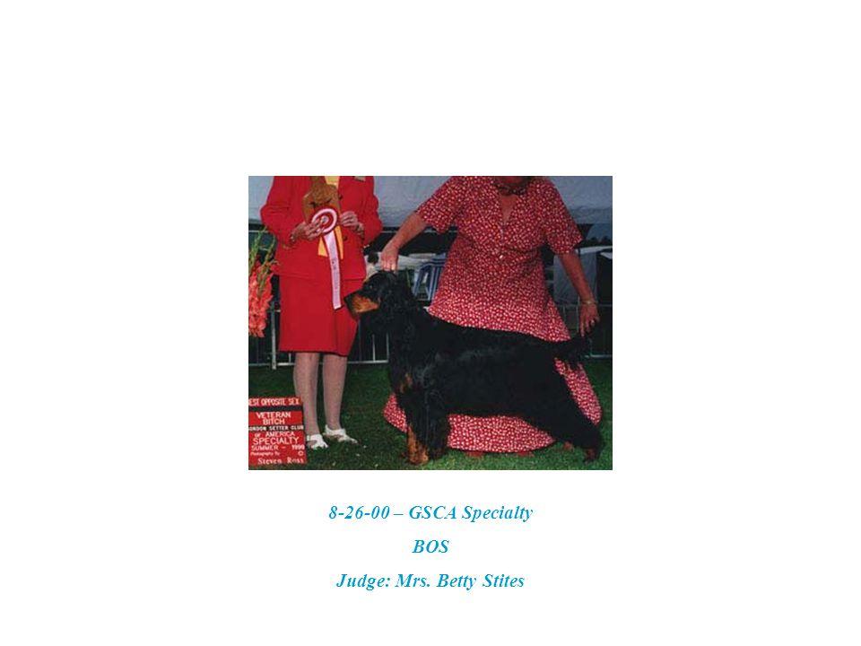 10-6-96 Best of Breed Judge: Dr. Elliot More