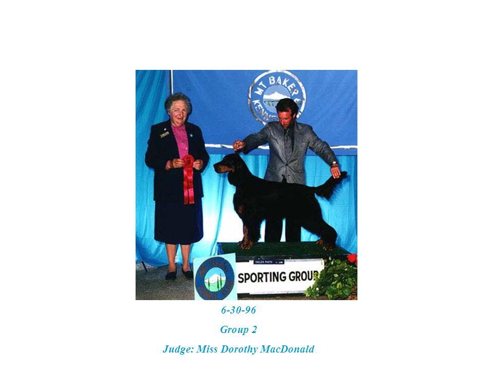6-21-02 – GSCA Specialty Best Veteran & BOS Judge: Carl Liepmann Handler: Gary Zyac