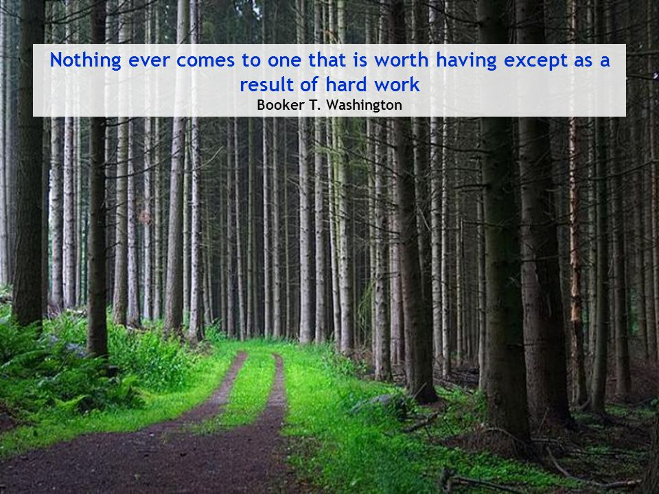 Nothing ever comes to one that is worth having except as a result of hard work Booker T. Washington