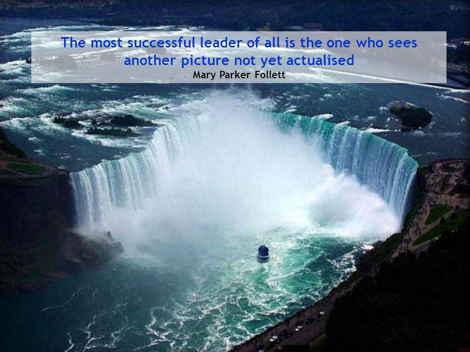 The most successful leader of all is the one who sees another picture not yet actualised Mary Parker Follett