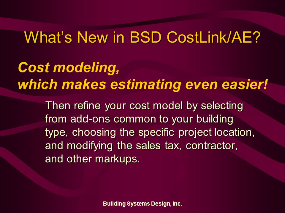 Building Systems Design, Inc.