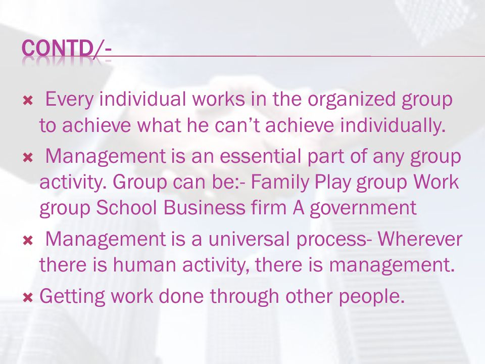  Louis E Boone & David L Kurtz- The use of people and other resources to accomplish objectives.