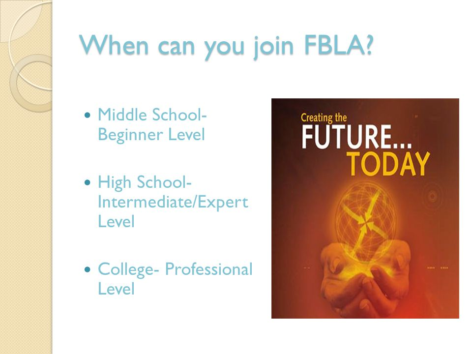 When can you join FBLA.