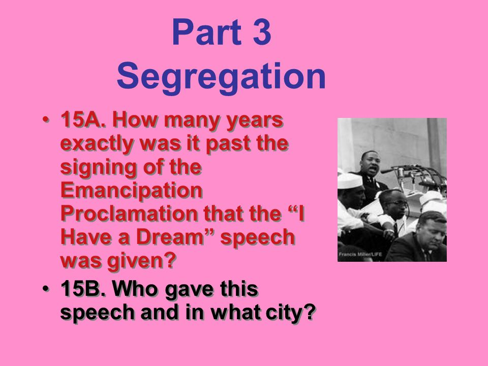 Part 3 Segregation 15A.