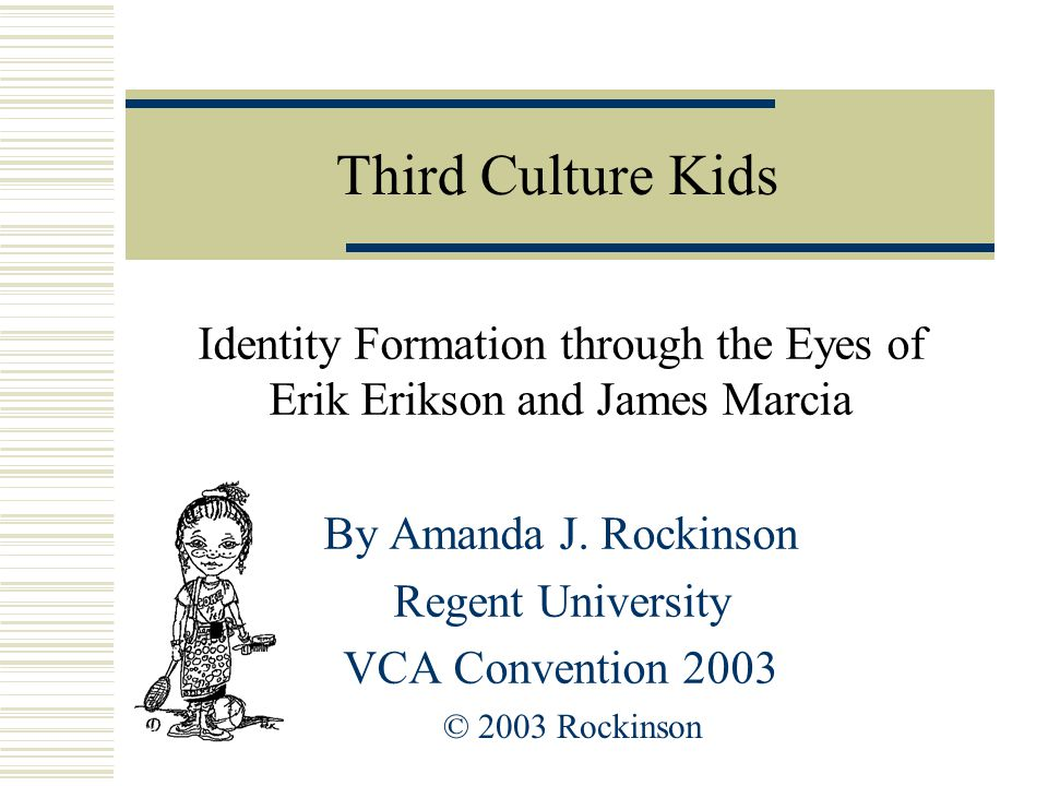 Introduce Yourself  Name  Population  TCK awareness  Symbolic object  Foreign travel; how it has affected you?