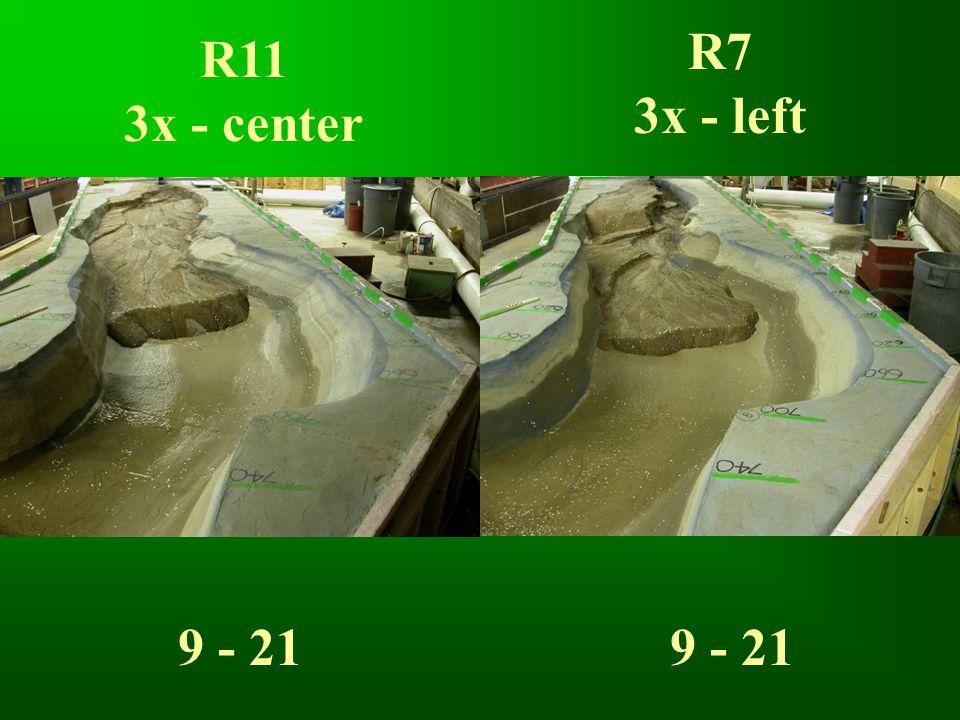 R11 3x - center R7 3x - left 9 - 21