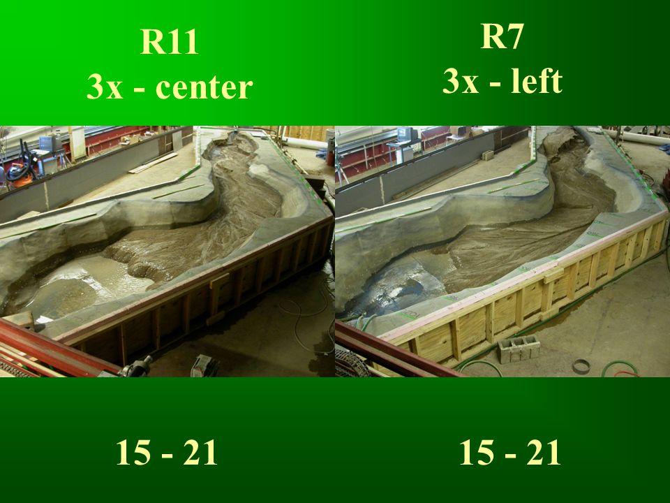 R11 3x - center R7 3x - left 15 - 21