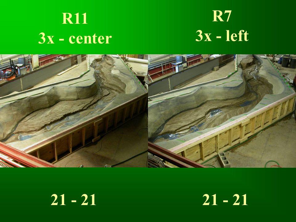 R11 3x - center R7 3x - left 21 - 21