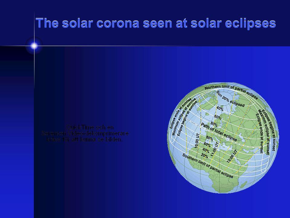 The solar corona seen at solar eclipses