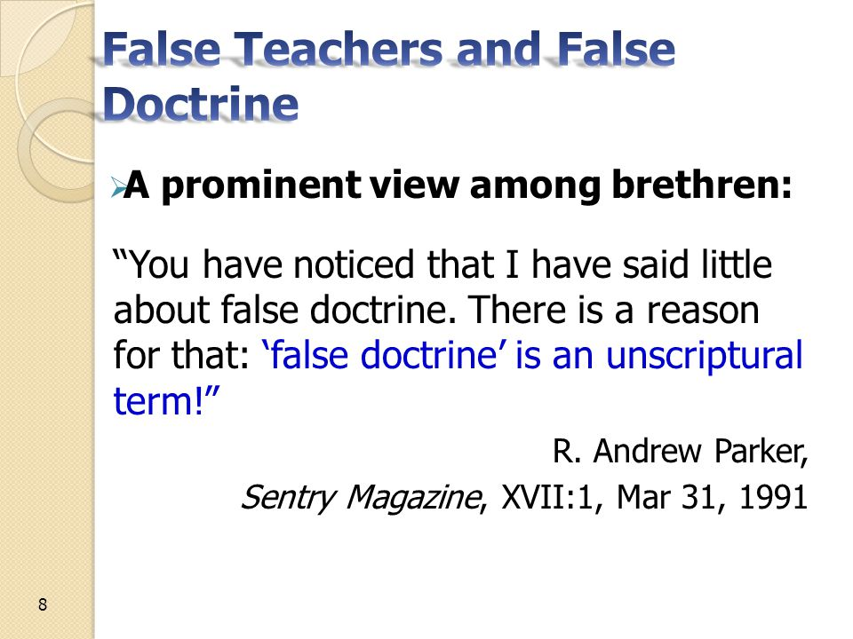 Forced to read hearts to identify and oppose false teachers ◦ Jesus reads hearts, Matthew 9:4 But Jesus, knowing their thoughts, said, Why do you think evil in your hearts? 19