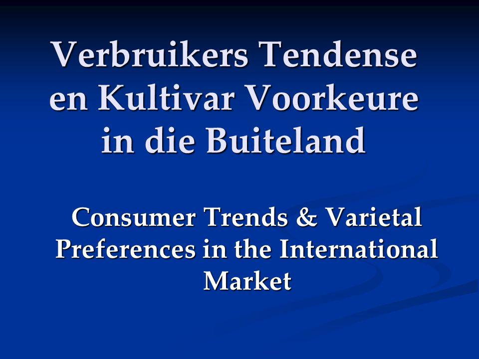 Verbruikers Tendense en Kultivar Voorkeure in die Buiteland Consumer Trends & Varietal Preferences in the International Market