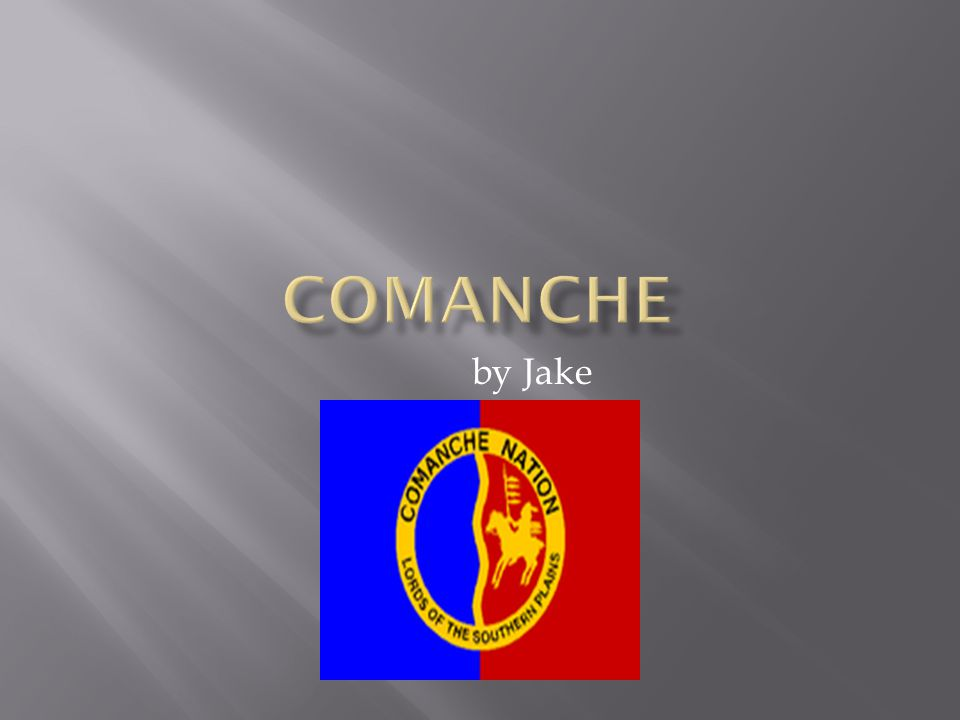  The Comanche traded with other tribes for horses.