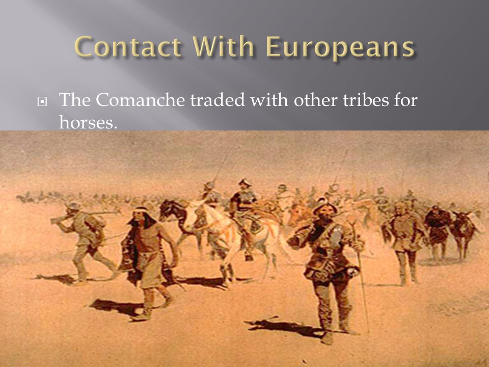  The Comanche traded with other tribes for horses.