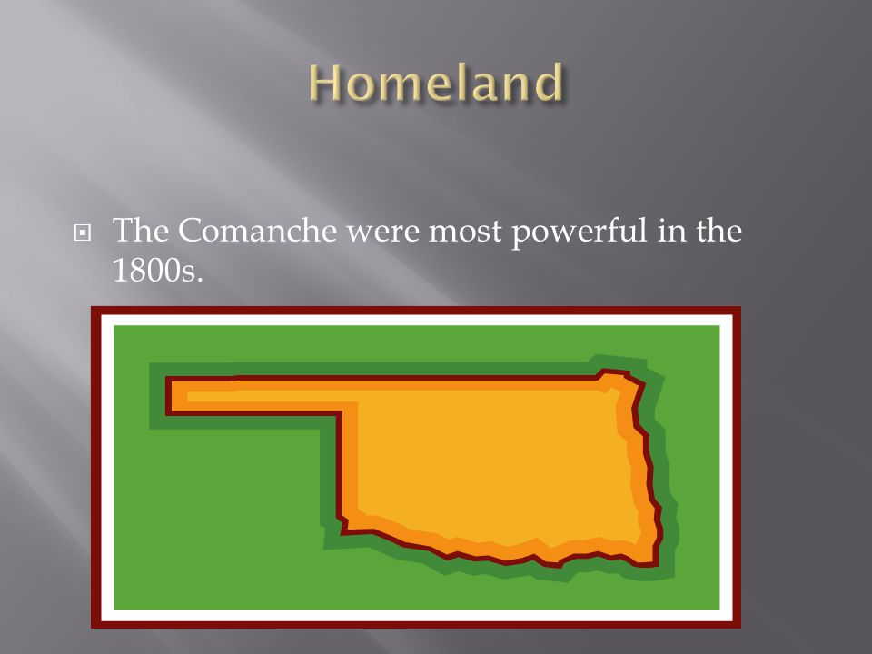  The Comanche were most powerful in the 1800s.