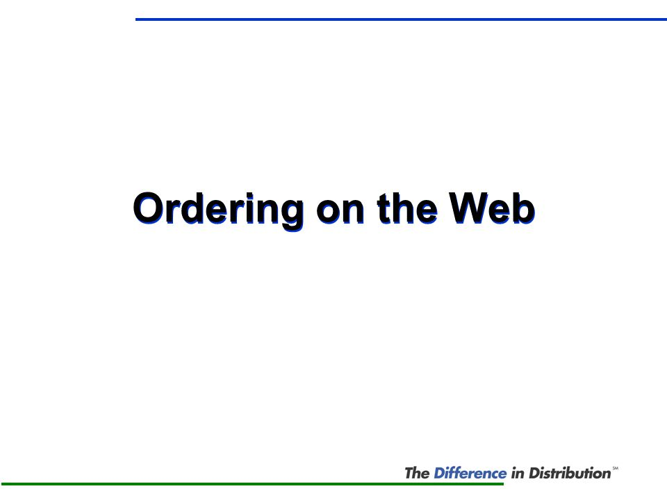 Ordering on the Web