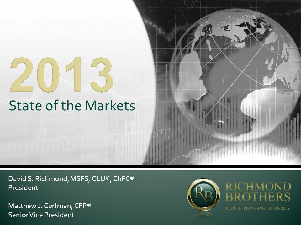 State of the Markets David S. Richmond, MSFS, CLU®, ChFC® President Matthew J.