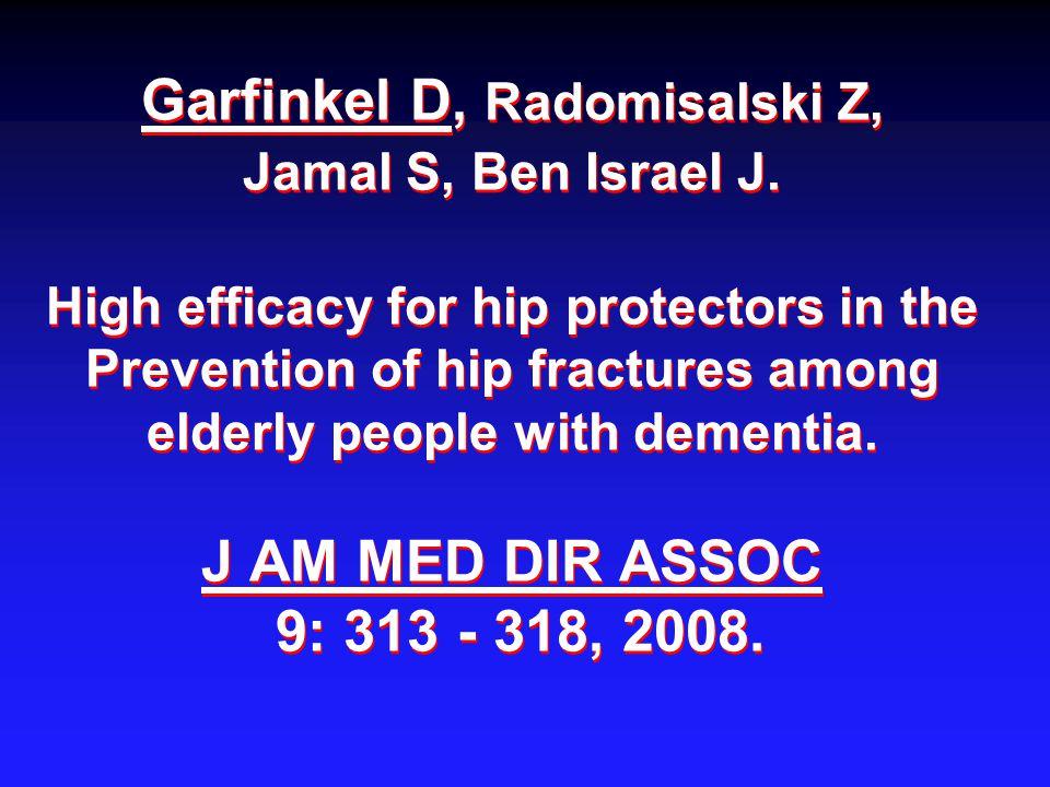 Garfinkel D, Radomisalski Z, Jamal S, Ben Israel J.