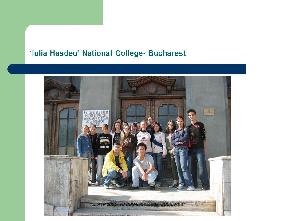 'Iulia Hasdeu' National College- Bucharest