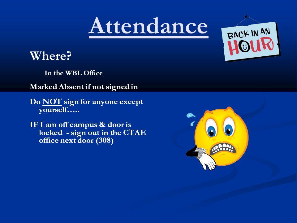 Attendance Where.