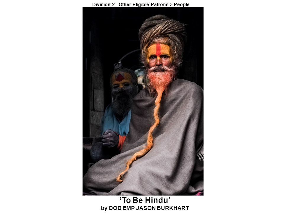 'To Be Hindu' by DOD EMP JASON BURKHART Division 2 Other Eligible Patrons > People