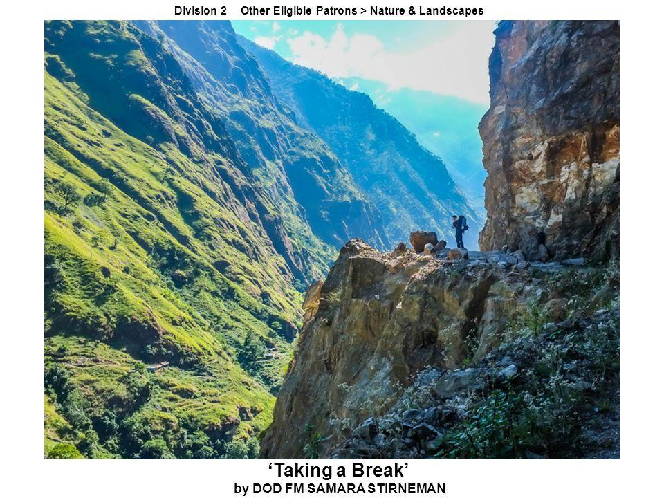 Division 2 Other Eligible Patrons > Nature & Landscapes 'Taking a Break' by DOD FM SAMARA STIRNEMAN