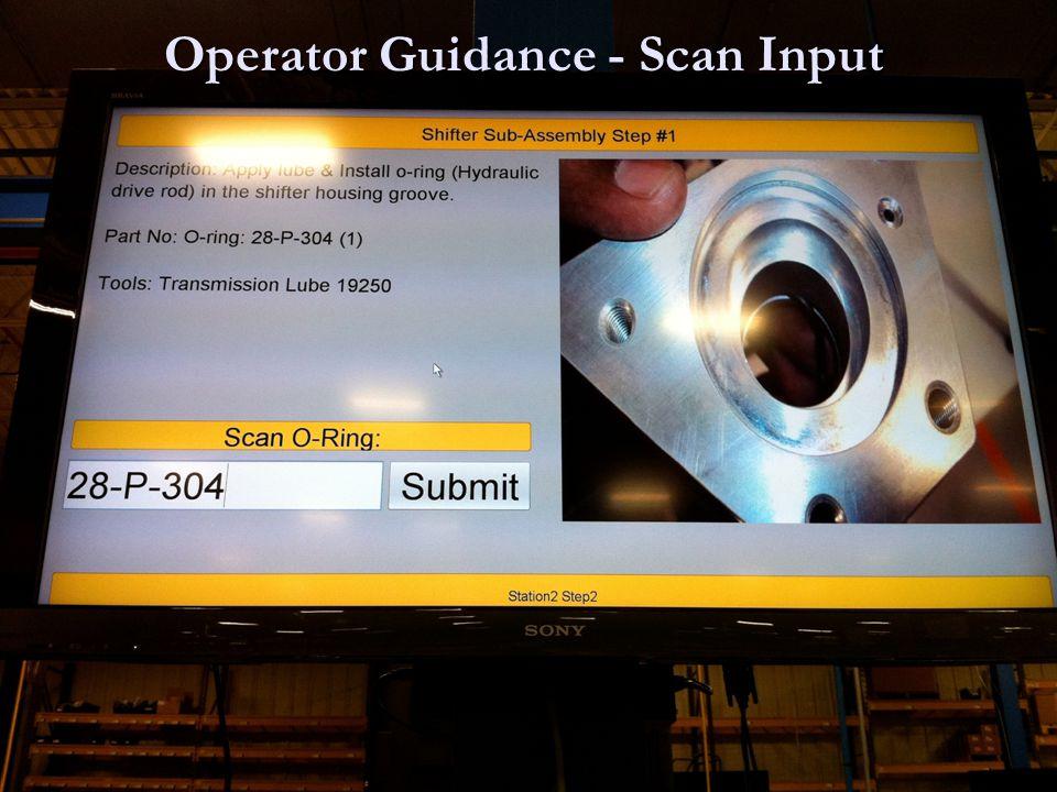 Operator Guidance - Scan Input