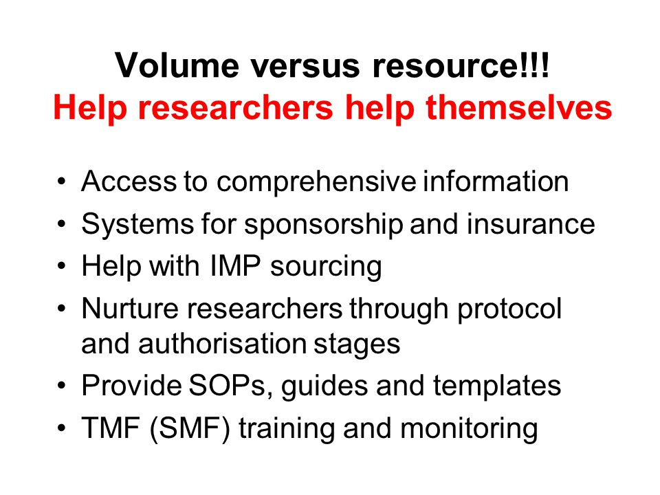 Volume versus resource!!.