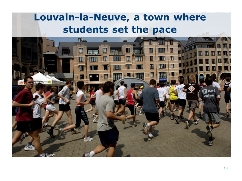 18 Louvain-la-Neuve, a town where students set the pace