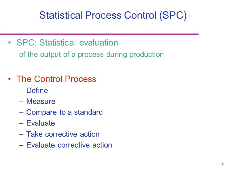 7 Statistical Process Control Shewhart's classification of variability: common cause vs.