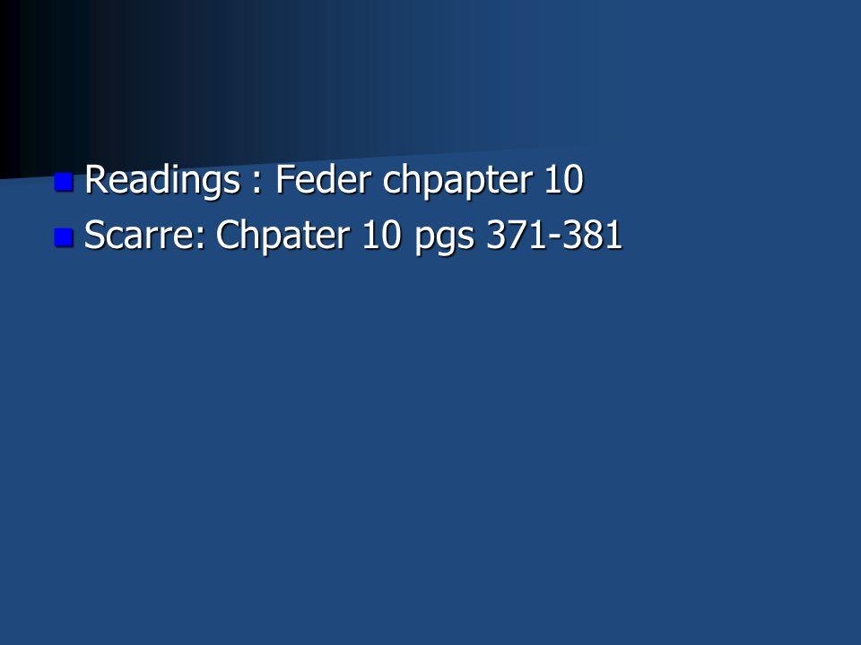 Readings : Feder chpapter 10 Readings : Feder chpapter 10 Scarre: Chpater 10 pgs 371-381 Scarre: Chpater 10 pgs 371-381