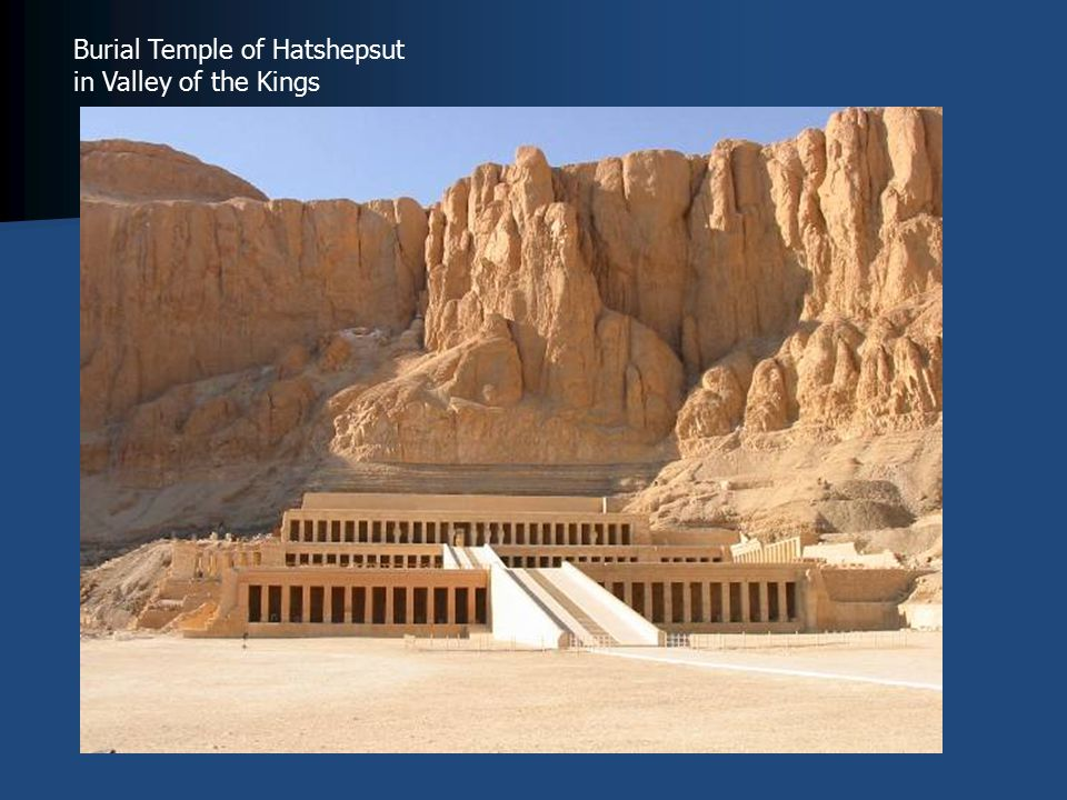Burial Temple of Hatshepsut in Valley of the Kings
