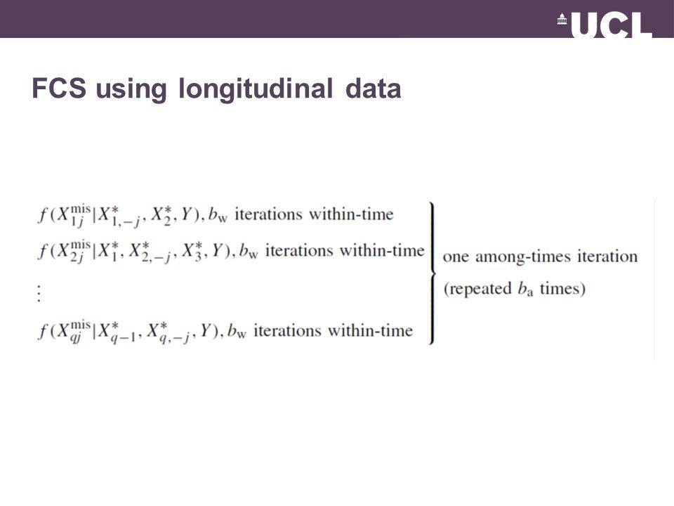FCS using longitudinal data