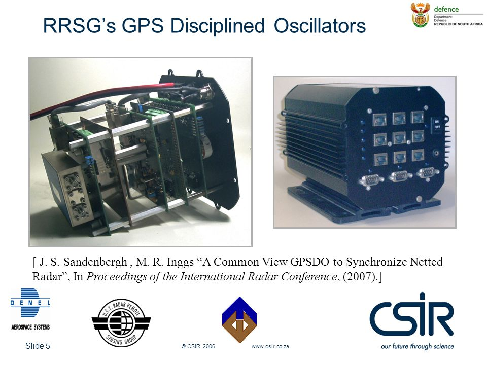 Slide 16 © CSIR 2006 www.csir.co.za Preliminary Results: GPSDO (free running)