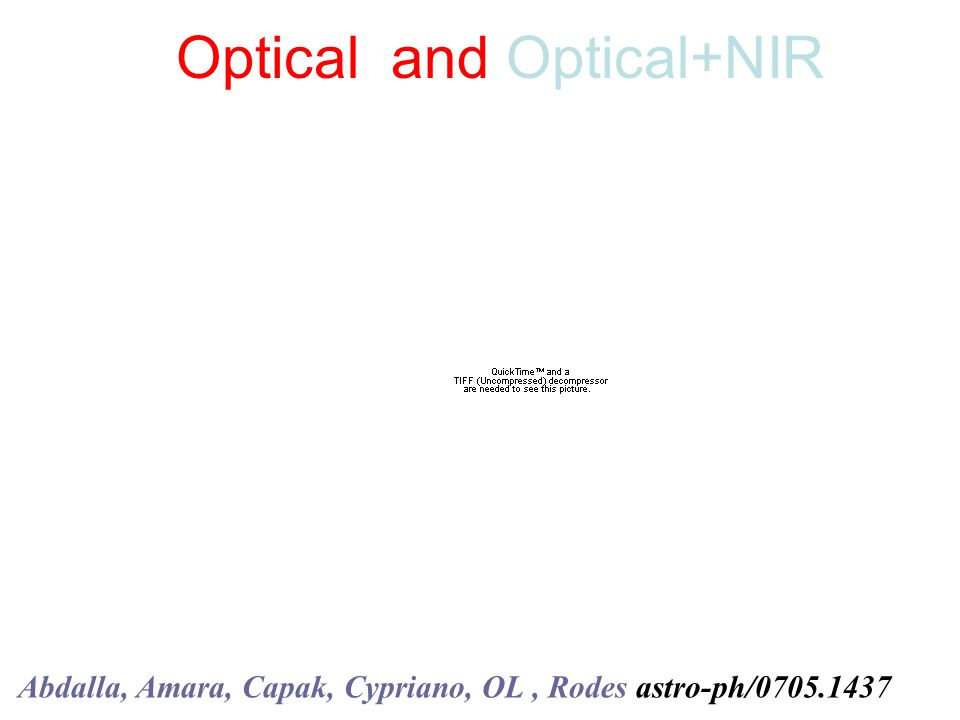 Optical and Optical+NIR Abdalla, Amara, Capak, Cypriano, OL, Rodes astro-ph/0705.1437