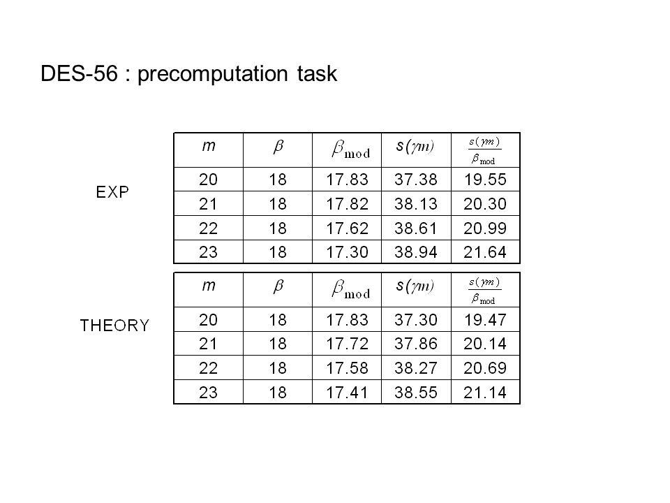 DES-56 : precomputation task