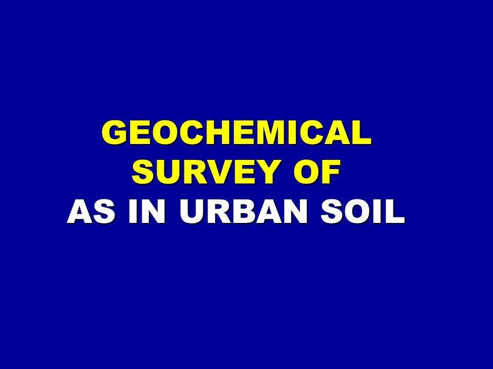 GEOCHEMICAL SURVEY OF AS IN URBAN SOIL