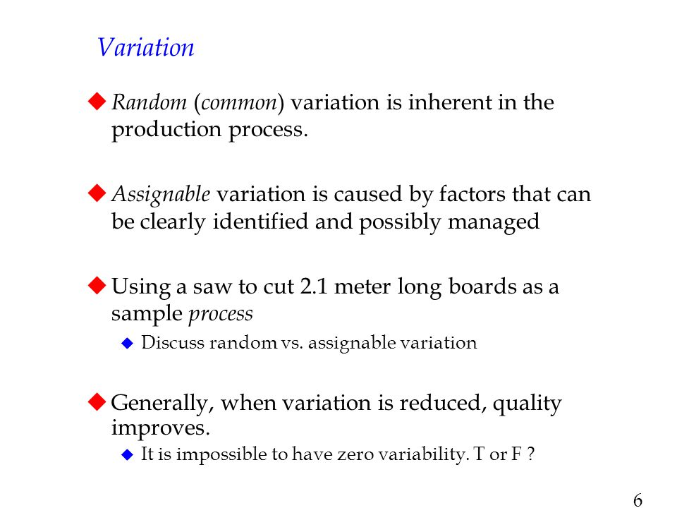 7 Incremental Cost of Variability High Zero Lower Spec Target Spec Upper Spec Traditional View Incremental Cost of Variability High Zero Lower Spec Target Spec Upper Spec Taguchi's View Exhibits TN8.1 & TN8.2 Taguchi's View of Variation Traditional view is that quality within the LS and US is good and that the cost of quality outside this range is constant, where Taguchi view s costs as increasing as variability increases, so seek to achieve zero defects and that will truly minimize quality costs.
