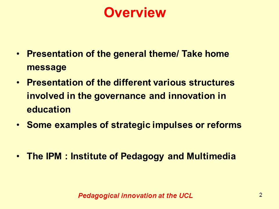 Impact of Bologna process 6 years later (Discussed in the Louvain la Neuve Meeting, 2011) –New law about higher university education –Structural changes in higher education (academies, fusions, …) –Agency for quality in higher education (risk of increased formal workload!) –Minors in the first cycle program (UCL) –No employability of the first cycle –Increased mobility of students 13
