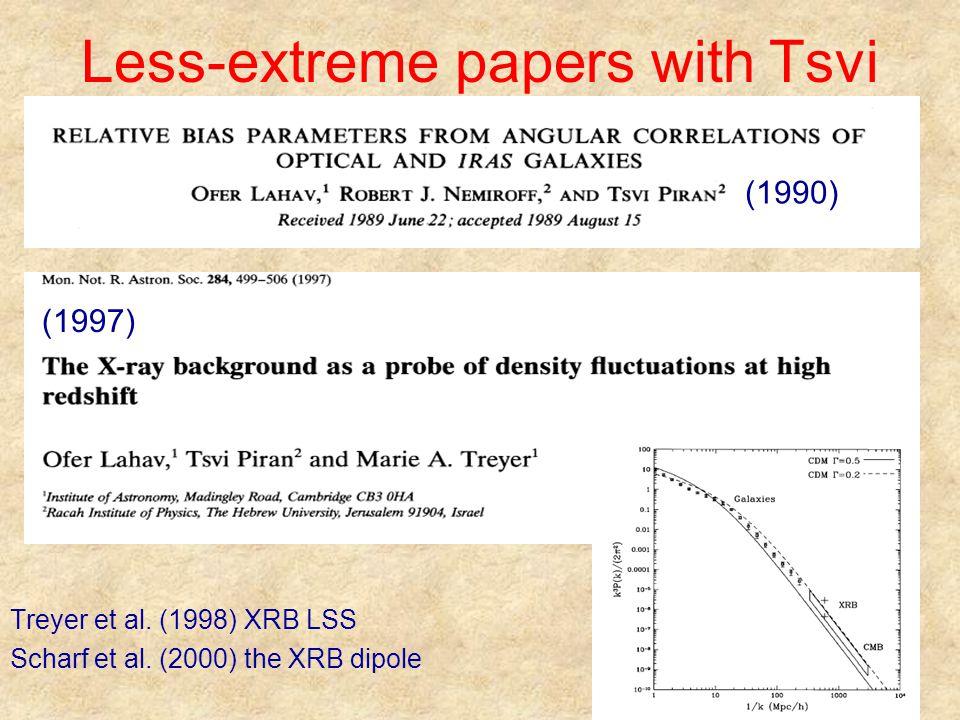 Less-extreme papers with Tsvi Treyer et al. (1998) XRB LSS Scharf et al. (2000) the XRB dipole (1990) (1997)